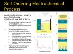 self ordering electrochemical process