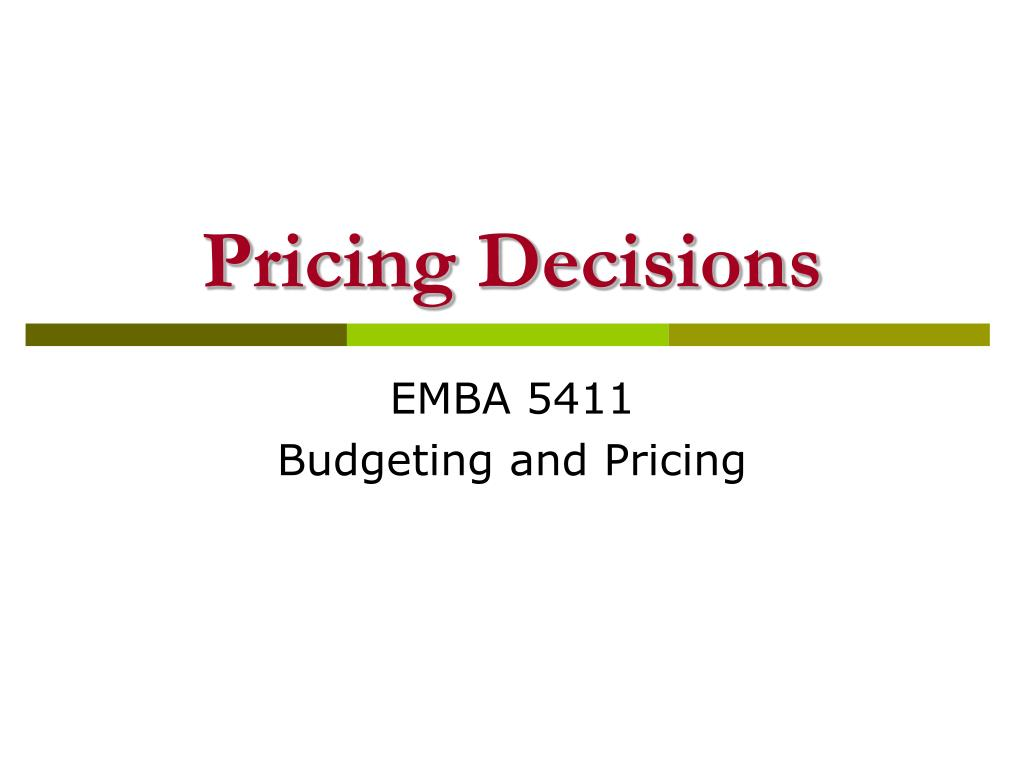 pricing decisions Meaning of pricing policy:  pricing policy: meaning, objectives and factors article  pricing decisions are usually considered a part of the general strategy.