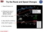try the route and speed changes