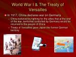 world war i the treaty of versailles