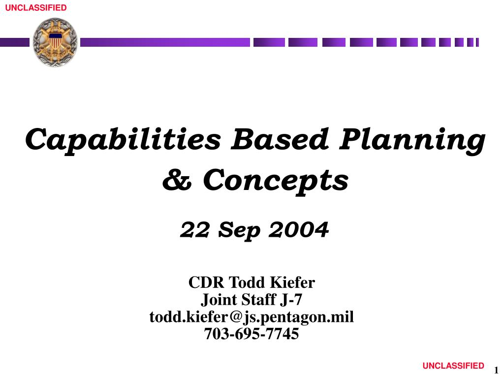 capabilities based planning concepts 22 sep 2004 l.