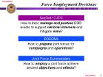 force employment decisions