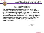 joint functional concept jfc