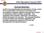 joint operating concept joc