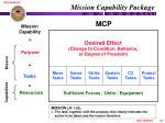 mission capability package