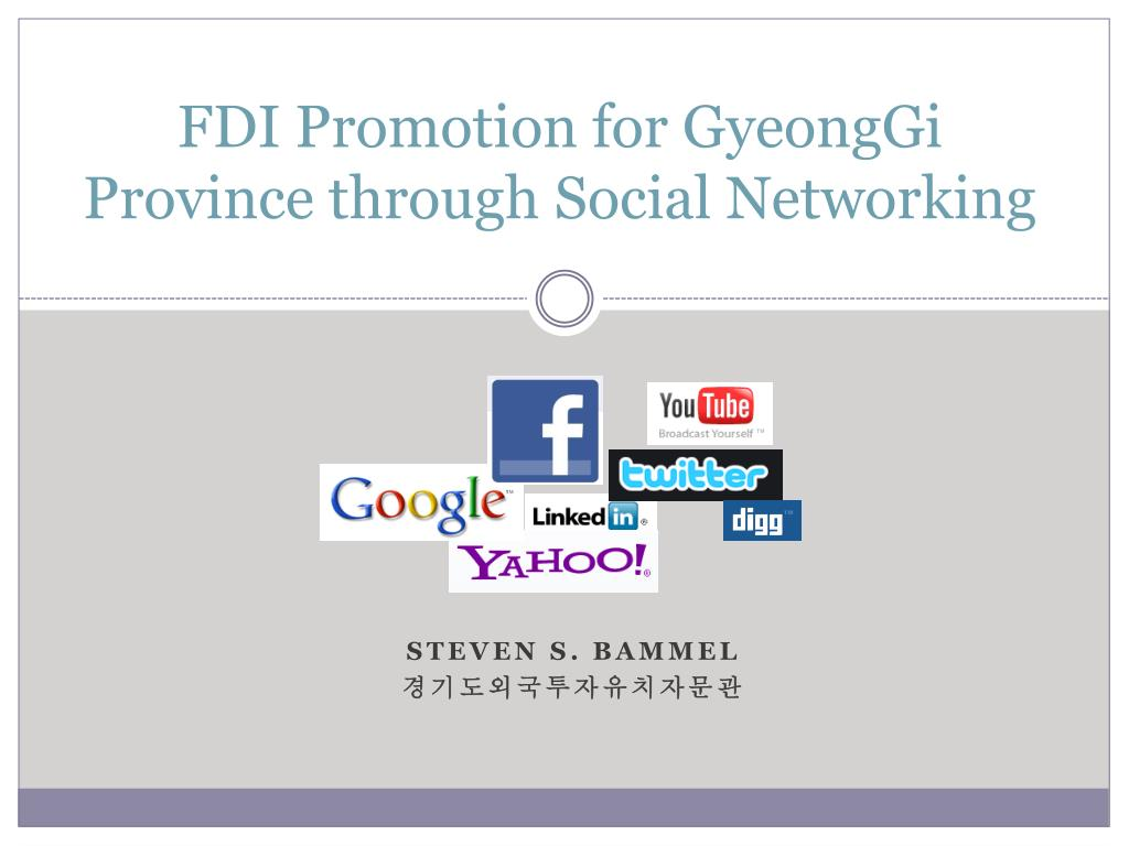 fdi promotion for gyeonggi province through social networking l.