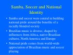 samba soccer and national identity