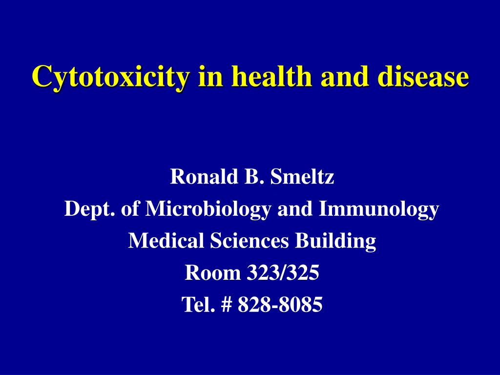 cytotoxicity in health and disease l.