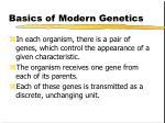 basics of modern genetics