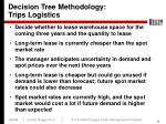 decision tree methodology trips logistics