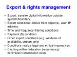 export rights management