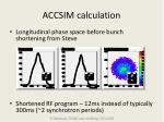accsim calculation