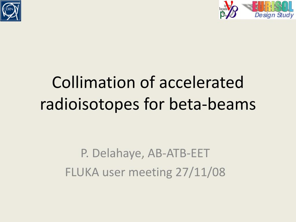 collimation of accelerated radioisotopes for beta beams l.