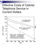 effective costs of cellular telephone service in current dollars
