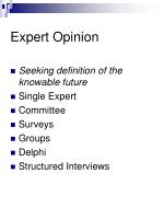 expert opinion