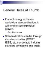 general rules of thumb