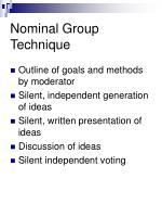 nominal group technique