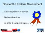 goal of the federal government