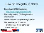 how do i register in ccr