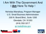 i am with the government and i am here to help