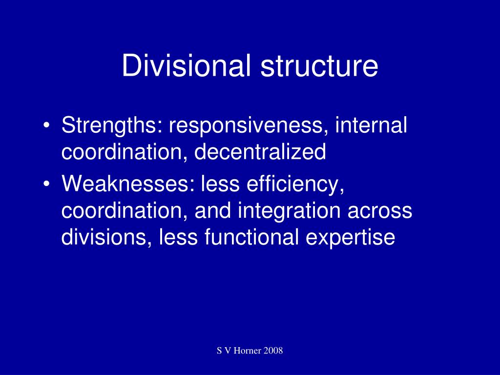 Divisional structure