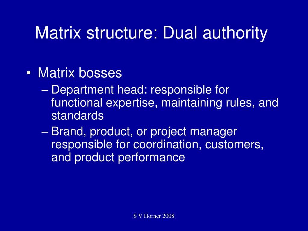 Matrix structure: