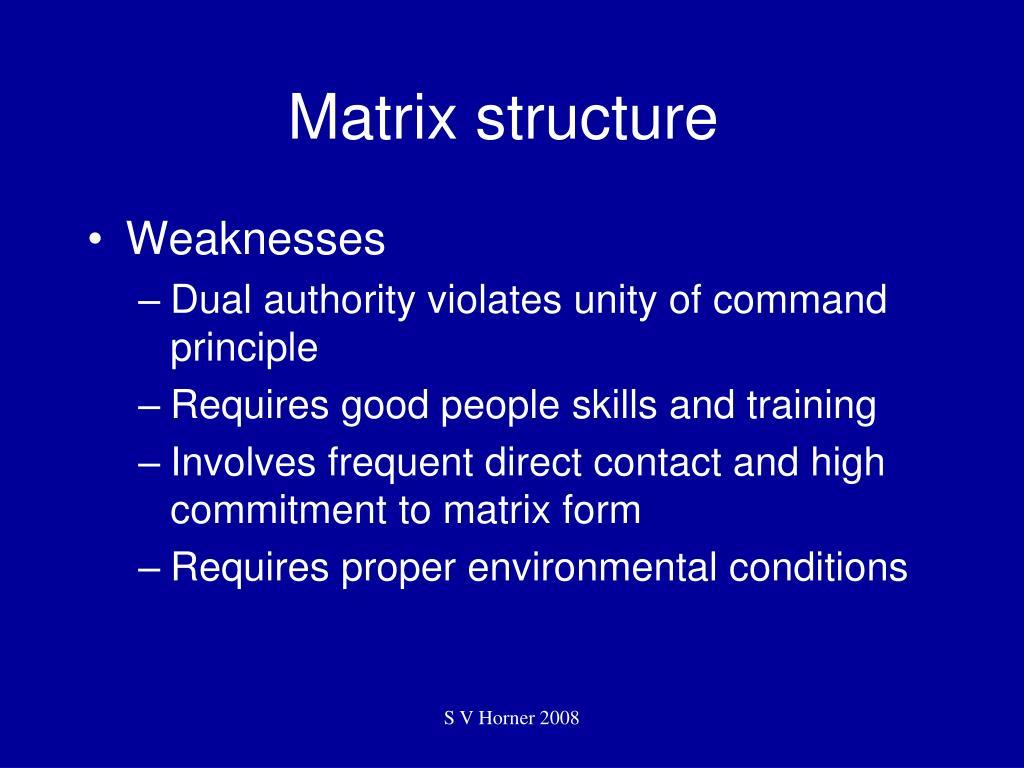 Matrix structure