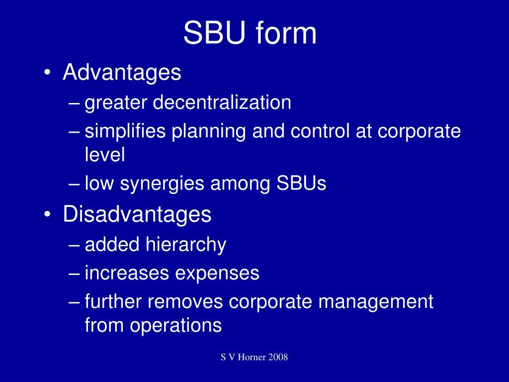 SBU form