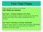 post task phase
