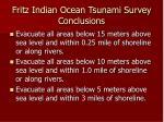fritz indian ocean tsunami survey conclusions
