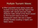 multiple tsunami waves