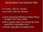 sandy beach and queens gate