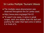 sri lanka multiple tsunami waves