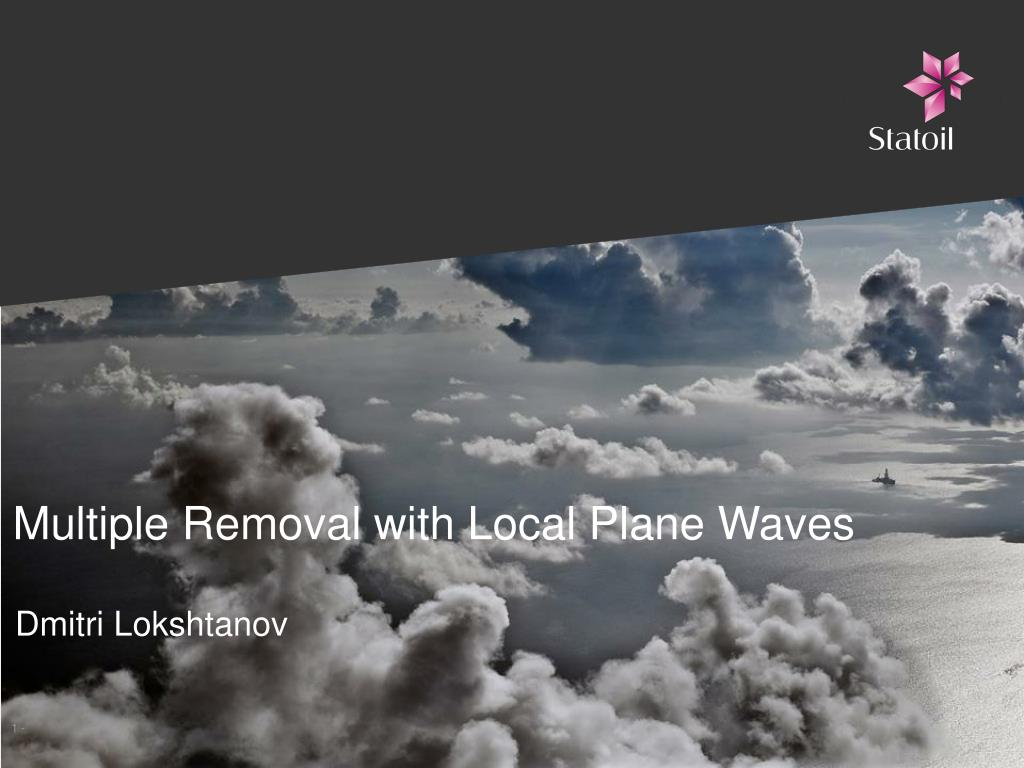 multiple removal with local plane waves l.