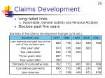 claims development