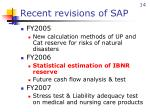 recent revisions of sap