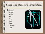 some file structure information