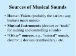 sources of musical sounds