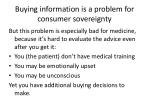 buying information is a problem for consumer sovereignty
