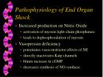 pathophysiology of end organ shock7