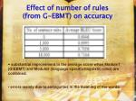 effect of number of rules from g ebmt on accuracy