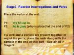 stage3 reorder interrogations and verbs