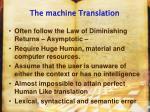 the machine translation