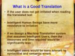 what is a good translation