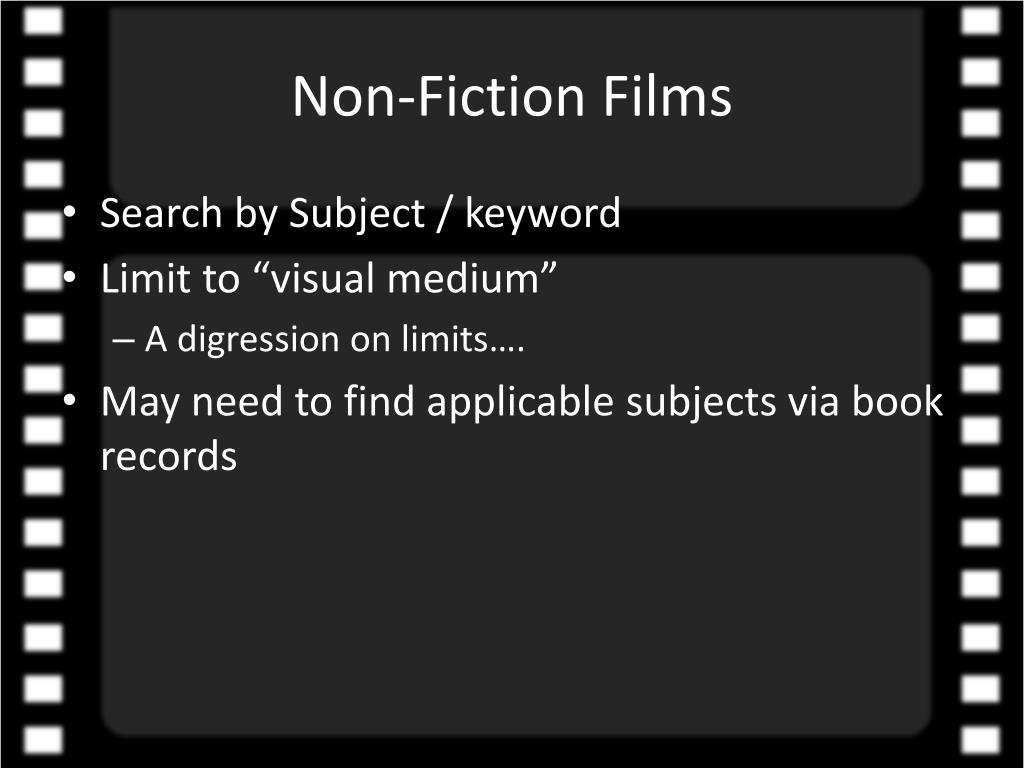 Non-Fiction Films