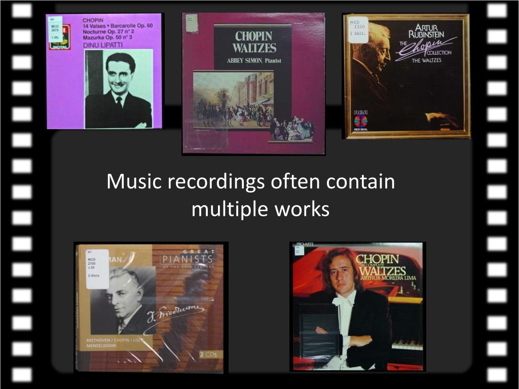 Music recordings often contain                          multiple works