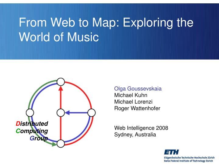 From web to map exploring the world of music