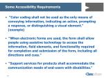 some accessibility requirements