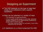 designing an experiment8