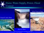 dams water supply power flood control